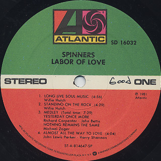 Spinners / Labor Of Love label