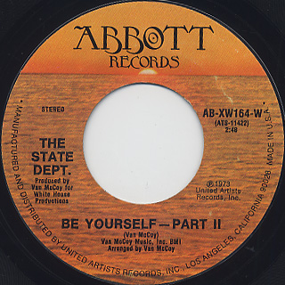 State Dept. / Be Yourself back