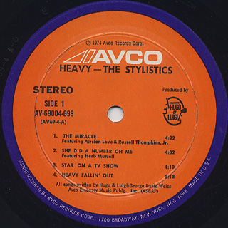 Stylistics / Heavy label