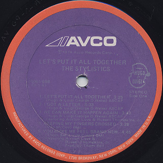 Stylistics / Let's Put It All Together label