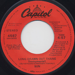 Sun / Sun Is Here c/w Long Drawn Out Thang back