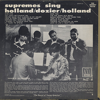 Supremes / Sing Holland Dozier Holland back