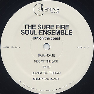 Sure Fire Soul Ensemble / Out On The Coast label