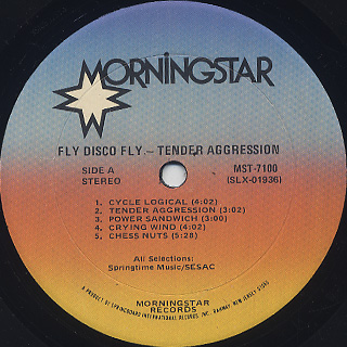 Tender Aggression / Fly Disco Fly label