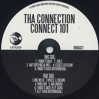 Tha Connection / Connect 101 label