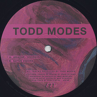 Todd Modes / Native Visions E.P. front