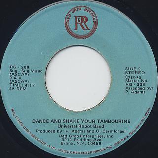 Universal Robot Band / Dance And Shake Your Tambourine (45) back