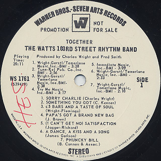 Watts 103rd Street Rhythm Band / Together label
