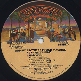 Wright Brothers Flying Machine / S.T. label