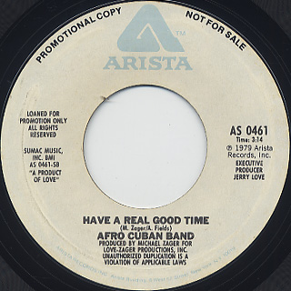 Afro Cuban Band / Something's Gotta Give (45) back