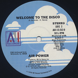 Air Power / Be Yourself c/w Welcome To The Disco label