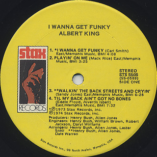 Albert King / I Wanna Get Funky label