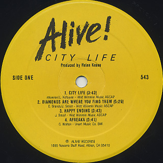 Alive! / City Life label
