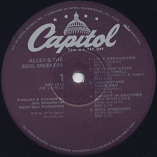 Alley & The Soul Sneekers / S.T. label
