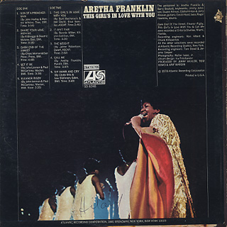 Aretha Franklin / This Girl's In Love With You back