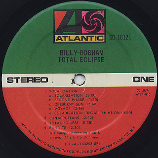 Billy Cobham / Total Eclipse label