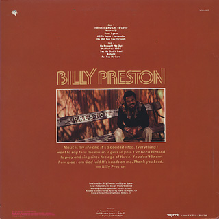 Billy Preston / Behold! back