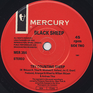 Black Sheep / Try Counting Sheep (45) label