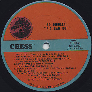 Bo Diddley / Big Bad Bo label