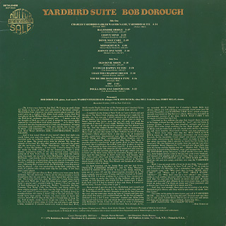 Bob Dorough / Yardbird Suite back