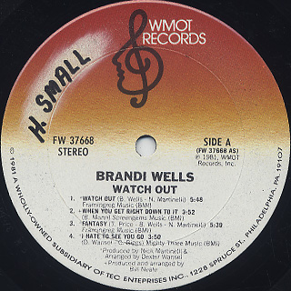 Brandi Wells / Watch Out label