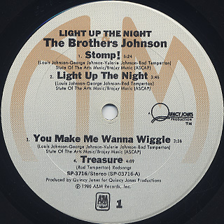 Brothers Johnson / Light Up The Night label
