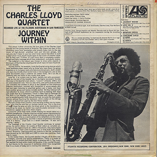 Charles Lloyd Quartet / Journey Within back