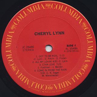 Cheryl Lynn / S.T. label
