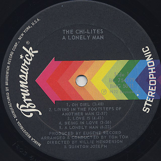 Chi-Lites / A Lonely Man label