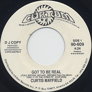 Curtis Mayfield / Got To Be Real back
