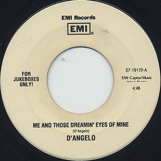 D'Angelo / Me And Those Dreamin' Eyes Of Mine c/w Brown Sugar