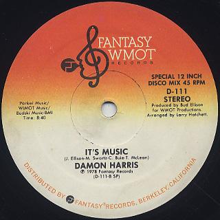 Damon Harris / Silk c/w It's Music label