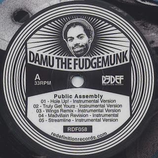 Damu The Fudgemunk / Public Assembly (Pic.) back