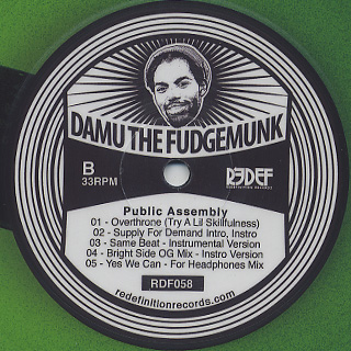Damu The Fudgemunk / Public Assembly (Pic.) label