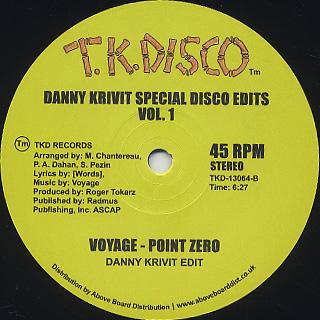 Danny Krivit / Special Disco Edits Vol.1 back