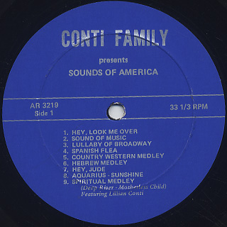 Fabulous Conti Family / Sounds Of America label