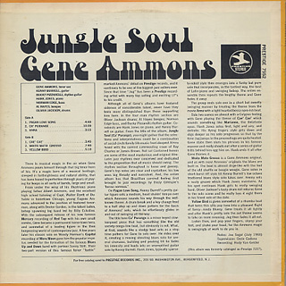 Gene Ammons / Jungle Soul back