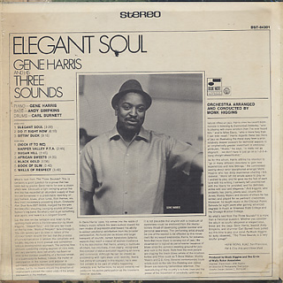 Gene Harris and His Three Sounds / Elegant Soul back