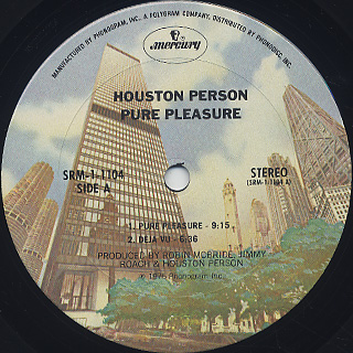 Houston Person / Pure Pleasure label