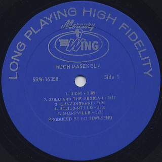 Hugh Masekela / S.T. label