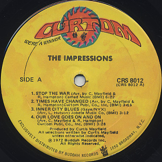 Impressions / Times Have Changed label