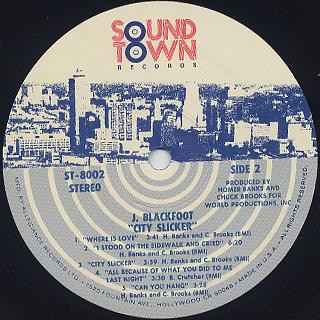 J. Blackfoot / City Slicker label