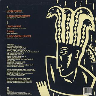 Jah Wobble, The Edge, Holger Czukay / Snake Charmer back