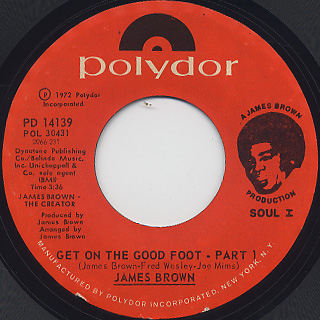 James Brown / Get On The Good Foot Part 1 c/w Part 2