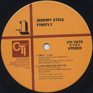 Jeremy Steig / Firefly label