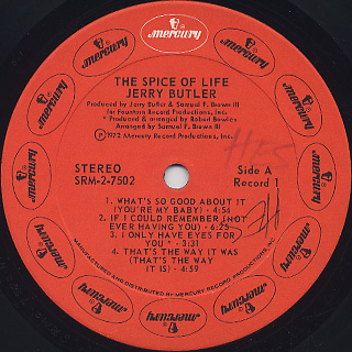 Jerry Butler / The Spice Of Life label
