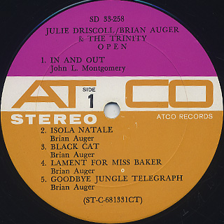 Julie Driscoll and Brian Auger & The Trinity / Open label