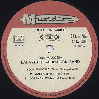 Lafayette Afro Rock Band / Soul Makossa label