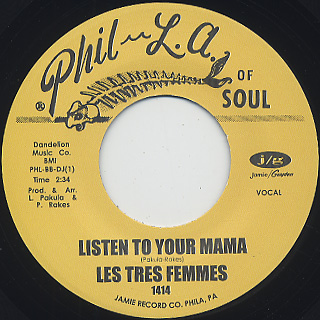 Les Tres Femmes / Listen To Your Mama back