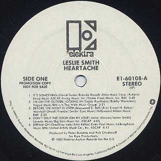Leslie Smith / Heartache label